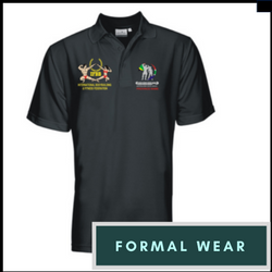 formal wear - ladies fit black golf shirt